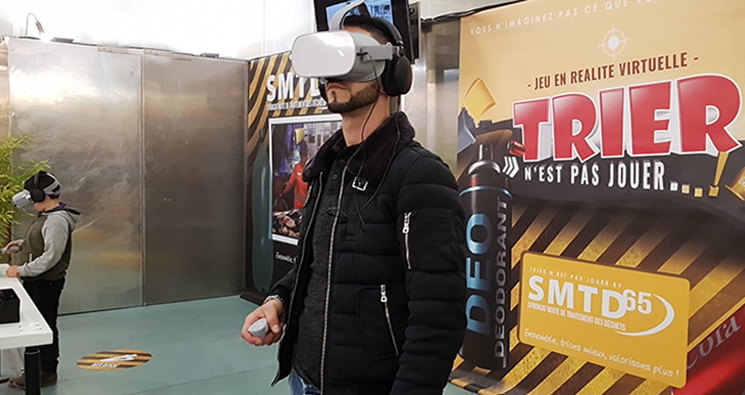 Le SMTD65 innove en proposant un jeu en réalité virtuelle